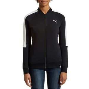 Puma Ladies French Terry Jacket Black Small New